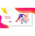 male character playing bowling man throw ball vector image vector image