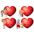 mothers day sticker design with and kids vector image vector image