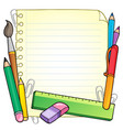notepad blank page and stationery 1 vector image