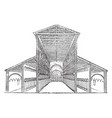 old st peters basilica vintage engraving vector image vector image