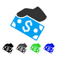 pay cash flat icon vector image vector image