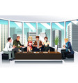 people in a lounge using electronic gadgets vector image vector image