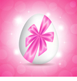 Pink card for Easter vector image