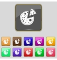 Pizza Icon Set colourful buttons sign vector image vector image
