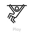 play activity icon vector image vector image