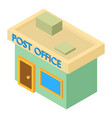 post office icon isometric 3d style vector image vector image