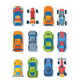 race cars top view flat set vector image vector image