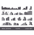 real estate logo set abstract creative building vector image vector image