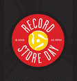 record store day badge or emblem design vector image vector image