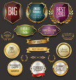 retro vintage golden labels sale collection vector image vector image