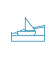 sailing yacht linear icon concept sailing yacht vector image