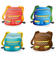 school bags vector image vector image