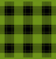 seamless black green tartan with red stripes vector image