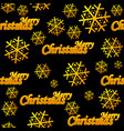 seamless pattern merry christmas golden logo vector image vector image