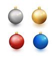 set christmas balls on a white background vector image vector image