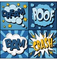 Set of Comics Bubbles in Vintage Style vector image vector image