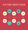 set of transport icons flat style symbols with suv vector image vector image