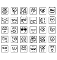 Set Square Emoticons vector image