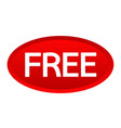 sign button free icon vector image vector image