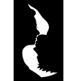silhouette of kissing couple vector image
