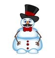 Snowman with mustache wearing a hat and bow ties f vector image vector image