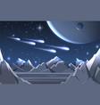 space planet surface landscape vector image