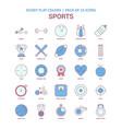 sports icon dusky flat color - vintage 25 icon vector image