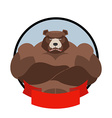 Strong bear Logo for sports club team Grizzly bear