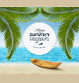summer holidays background tropical paradise vector image vector image