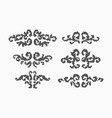 swirls set vector image vector image