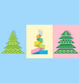 three unusual firs vector image vector image