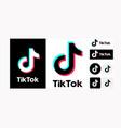 tiktok logo set variation on white background vector image vector image
