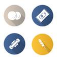 toiletries flat design long shadow glyph icons set vector image vector image