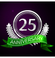 Twenty five years anniversary celebration with vector image vector image
