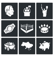 Ukraine Kiev industry sport Icons Set vector image vector image