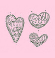 valentines day flat hearts pink vector image