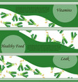 vegetable food banner leek sketch vector image vector image