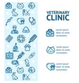 veterinary clinic signs banner vertical vector image vector image
