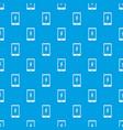 warning phone pattern seamless blue vector image vector image