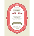 Wedding invitation red badge theme vector image vector image