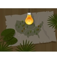 map jungle bulb night america dark vector image