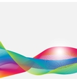 Abstract colorful airy ribbons on a white vector image