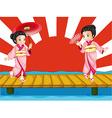 Japanese girls vector image