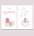 my princess card vector image