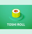 toshi roll isometric icon isolated on color