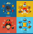 pirate cartoon design concept vector image