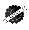 Retro vintage logo template vector image