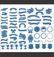 a collection various ribbons tags laurels vector image