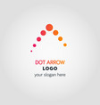 abstract business logo template in dot colorful vector image vector image