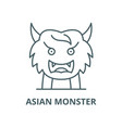 asian monster line icon linear concept vector image